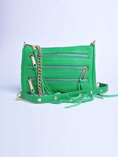 REBECCA MINKOFF - Borsa Mini 5 zip verde | Di Pierro  http://www.dipierrobrandstore.it/product/2695/Borsa-Mini-5-zip-verde.html