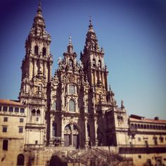 SANTIAGO DE COMPOSTELA. The city embarked on its glorious career in 813 when, according to legend, a tomb containing the remains of the Apostle St.James was miraculously discovered. Today sunburnt pilgrims and tourist from around the world fill the granite streets by the cathedral, communally awed by Santiago's past and present magnificence.