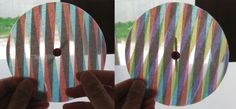 Laminate and tissue paper to make a cool kaleidoscope