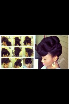 Natural Hair updo !