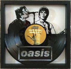 Oasis cut framed vinyl LP record art collectible