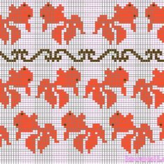 Hand Embroidery Videos, Embroidery Patterns, Knitting Patterns, Fair Isle Chart, Cross Stitch Animals, Coloring For Kids, Plastic Canvas, Mittens, Tapestry