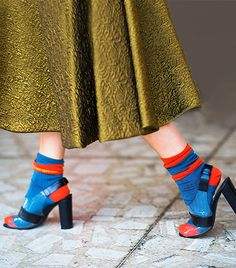 shoes and socks for spring, heels and ankle socks