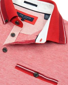 Oxford polo - Red | Tops & T-shirts | Ted Baker UK
