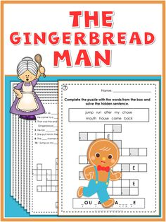 This set of fun and engaging puzzles and worksheets goes along with the story of The Gingerbread Man. They provide practice in spelling and matching and are excellent for homework, review,fast finishers and just for fun. I have included all answer keys. Enjoy!
