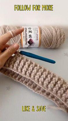 Easy Crochet Stitches, Crochet Stitches For Beginners, Crochet Videos, Crochet Basics, Knitting For Beginners, Start Knitting, Easy Knitting, Crochet Star Stitch, Crochet Designs