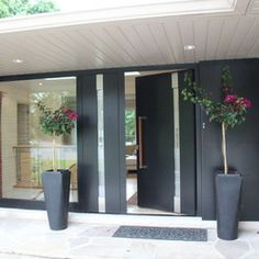 Modern Entrance Door - This renovation project was done in May 2013 by Door Studio.