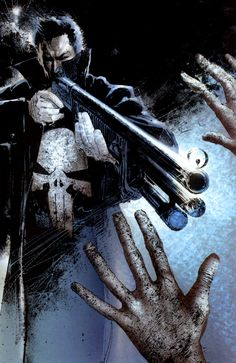 The Punisher by Bill Sienkiewicz http://www.comixology.com/Ultimate-Marvel-Team-Up/comics-series/7031
