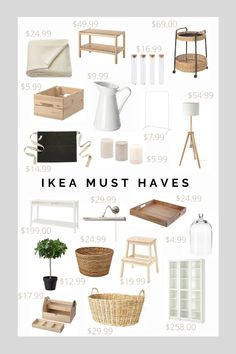 Here are some of my IKEA favorites for 2020 that can be used in a living room, a kitchen or in a bedroom. I really like the Scandinavian cleanness and natural look. They are also good base for an Ikea hack Ikea Must Haves, Ikea Decor, Ikea Bedroom Decor, Nursery Decor, Ikea Living Room, Living Room Decor Hacks, Small Living Room Ideas On A Budget, Small Living Rooms, Scandinavian Interior Design