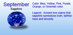 September Birthstone Gift Ideas September Colors, Roman Calendar, Birth Stones, Sapphire Birthstone, Zodiac Signs Virgo, Better Than Yours, Mother And Father, Diamond Are A Girls Best Friend, Beautiful Children