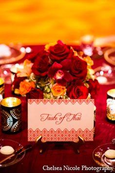 indian wedding reception stationary catering decor http://maharaniweddings.com/gallery/photo/4642