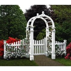 New England Arbors Two 4 Ft. Cottage Picket Vinyl Arbor Wings