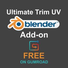 Ultimate Trim UV - Free Blender Add-on, Justen Lazzaro Create Animation, Animation Film, Blender Addons, Principles Of Animation, 3d Computer Graphics, Blender Tutorial, Uv Mapping, Best Blenders, Game Engine
