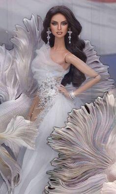 Doll Shop, Barbie World, Barbie Dress, Beautiful Dolls, Fashion Dolls, Doll Clothes, Glamour, Bride, Stylish
