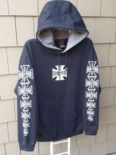Kenpo OG Jesse James West Coast Choppers Iron Cross All over Hoodie LBC Medium | Clothing, Shoes & Accessories, Men's Clothing, Sweats & Hoodies | eBay!