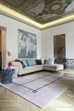 Sectional upholstered leather #sofa SINUA by @bonaldo | #design Mauro Lipparini
