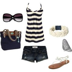 What I (Ginger) wore when I met Nicky down at the pier just to talk. Without the shoes or the jewelry or the purse