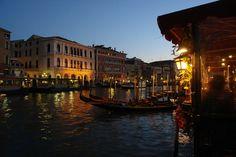 Venice at Night - Gondolas