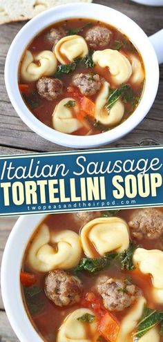 Give this Italian Sausage Tortellini Soup a try! Everyone always requests this easy winter soup. Full of flavor from Italian sausage, cheese, pasta, and veggies, you can get an entire meal in one� More