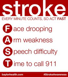 For Stroke Awareness month, we want to challenge you to memorize common warning signs of a stroke. Learn how the F.A.S.T. formula can help... http://scrubb.in/11itojL | http://Scrubbing.in