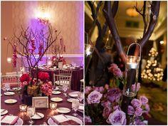 purple outdoor wedding themes | purple wedding ideas Evening Candlelight Wedding by Kimberly ...