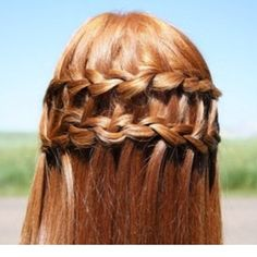 Top 100 french braid hairstyles photos #ginger #hair #double #waterfall See more http://wumann.com/top-100-french-braid-hairstyles-photos/