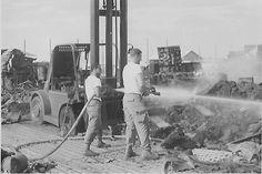Vietnam War...Marble Mountain 1968, after rocket attack