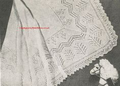 Marigold sahetland lace baby shawl vintage knitting by Ellisadine