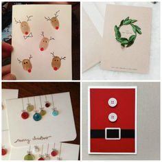 22 DIY Christmas Cards That Deliver More Holiday Cheer Than Store-Bought - First For Women Creative Christmas Cards, Christmas Card Crafts, Homemade Christmas Cards, Christmas Tree Cards, Holiday Greeting Cards, Xmas Cards, Diy Cards, Homemade Cards, Handmade Christmas