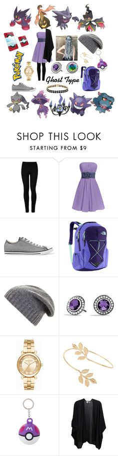 """👻Ghost Pokemon."" by carmen-41-navarro ❤ liked on Polyvore featuring Wolford, Converse, The North Face, BCBGMAXAZRIA, David Yurman, Michael Kors, Miss Selfridge, Kinross and Dolce Giavonna"