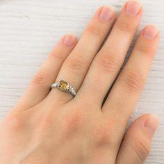 Image of 1.02 Carat Fancy Brown-Yellow Diamond Engagement Ring