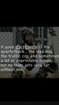 We have a bad catcher, so that's why out team sucks Softball Chants, Girls Softball, Softball Players, Fastpitch Softball, Softball Stuff, Softball Gear, Softball Catcher Quotes, Softball Quotes, Softball Pictures