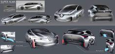 Renault concept sketches
