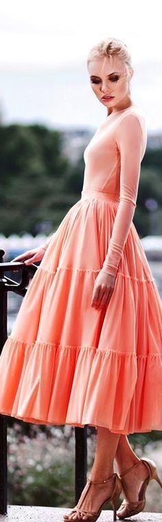 Yulia Prokhorova Beloe Zoloto AW-15/16: peach ensemble.