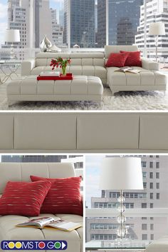 Sleek contemporary style with a luxuriously plush feel, the Sybella sectional offers an elegant seating option you'll actually enjoy using.