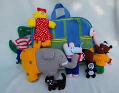 """Maisy and friends - Cute idea, make """"2D Softies"""" of your child's favorite character."""