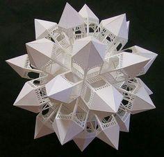 Gazeboball 3...paper art by Ben Chickadel...stunning!