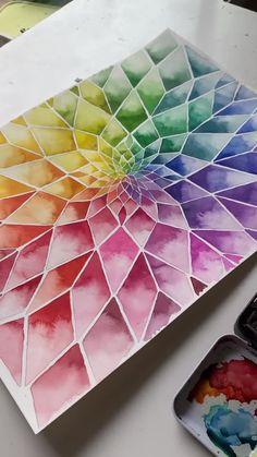 Watercolor Lotus, Watercolor Beginner, Watercolor Paintings For Beginners, Watercolor Video, Watercolour Tutorials, Watercolor Illustration, Watercolor Landscape Tutorial, Learn Watercolor Painting, Watercolor Techniques