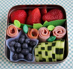 Olivia would love this for lunch. Blueberries are her thing these days.