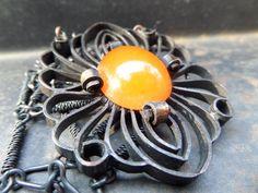 Handmade Amber PendantSolid Copper PendantHuge by CodettiSupply