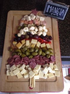 Year 2 of my Christmas Antipasto Tree! Italian food, Appetizers, Holiday food, cheese by shauna