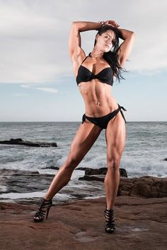 Check out our interview with Monice Potgieter and see how she was looking 3 years ago ==> http://www.body-buildin.com/2012/10/sexy-nerd-loves-fitness-it-and-god.html