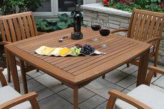 "42"" Square Eucalyptus Dining Table"