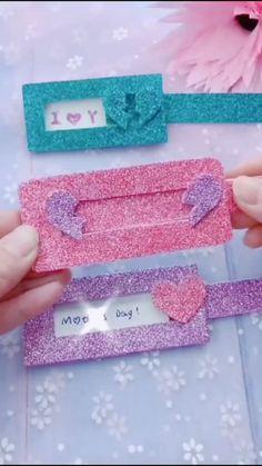 Diy Crafts For Girls, Fun Diy Crafts, Creative Crafts, Diy For Kids, Cool Paper Crafts, Paper Crafts Origami, Origami Art, Handmade Notebook, Valentine Crafts