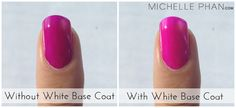 Use a white base coat to make neon nail polish really POP. | 32 Easy Nail Art Hacks For The Perfect Manicure