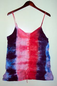 To Dye for Tie Dye Striped/tiered Girly Tank by DandelionBreak, $15.00
