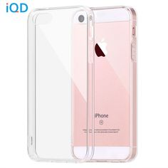 IQD For Apple iPhone SE Case Bumper Cover Shock-Absorption Bumper and Anti-Scratch Clear Back For iPhone 5 5S SE Cases *** Click the image for detailed description