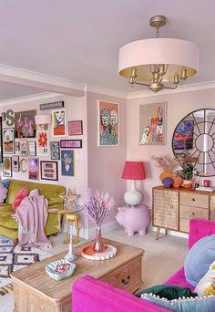 Living Room Decor, Bedroom Decor, Pastel Room, Aesthetic Room Decor, Dream Rooms, My New Room, House Rooms, Home Decor Inspiration, Art Deco