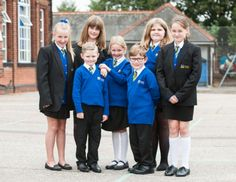 Schools often introduce new uniforms to cement their new Academy status. Pupils at Lynn's Eastgate Academy have been getting used to their new blue uniforms.