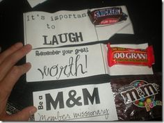 Cool notes to put in lunch boxes...M  could be Mind your Manners!